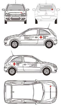 Fahrzeugbeschriftung für Kleinwagen