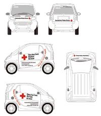 Fahrzeugbeschriftung für Smart