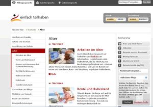 Webseite - einfach-teilhaben.de