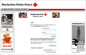 Screenshot www.drk-etraining.de