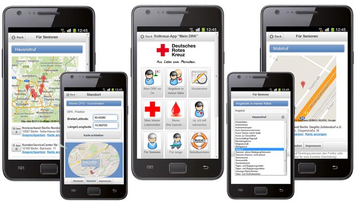 Neue Standortfunktion und Angebote für Senioren mit PLZ-Suche in der DRK-App