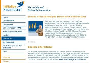 Webseite der Initiative Hausnotruf