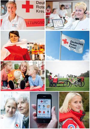 Fotos zu den Aufgaben und Dienstleistungen des Deutschen Roten Kreuzes
