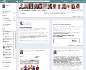 Projektgruppe Kleiderläden zeigt Profil im internen Netzwerk 'Expertenverzeichnis'