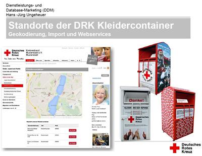 Präsentation 'Standorte der DRK Kleidercontainer' - Ihr Browser unterdrückt die Anzeige der Bilder. Bitte Grafiken zulassen oder Bilder anzeigen lassen.