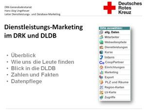Präsentation zur Dienstleistungsdatenbank