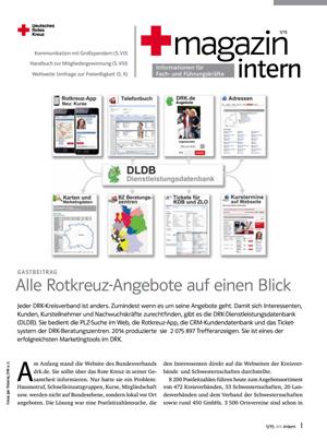 Rotkreuzmagazin der DRK-Service GmbH - Ihr Browser unterdrückt die Anzeige der Bilder. Bitte Grafiken zulassen oder Bilder anzeigen lassen.