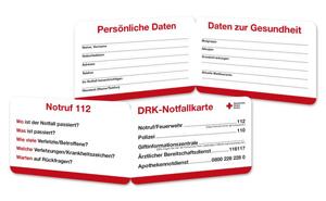 DRK-Notfallkarte VE = 20 Stück
