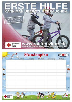 Helpman Stundenplan mit Erste-Hilfe-Poster auf der Rückseite, VE = 10 Stück