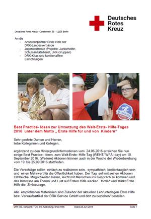 """Aktionen für Erwachsene """"Erste Hilfe am Kind"""""""