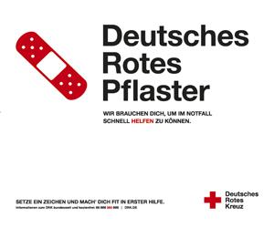 """Kampagnenmotiv """"Deutsches Rotes Pflaster"""" eignet<br />"""