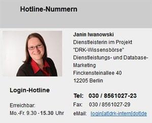 Login-Hotline zur DEMO-Zugangsanfragen