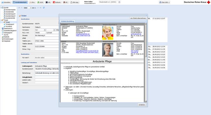 Anbieterdarstellung zur Ambulante Pflege. Detaillierte Informationen zum Angebot und zu den Ansprechpartnern.