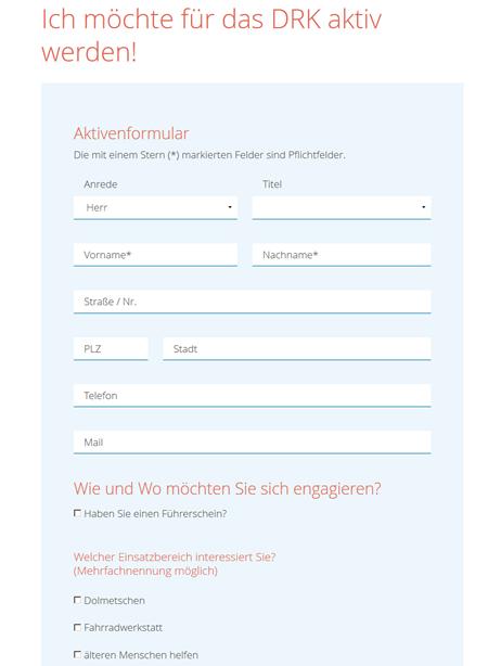 Onlineformulare für Aktive und Engagierte