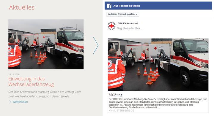 Crosspublishing zu Facebook