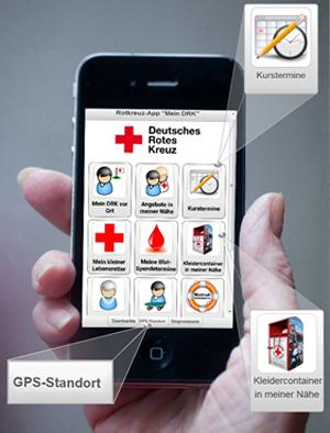 Rotkreuz-App mit Containersuche