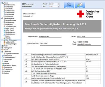 Statistischer Erhebungsbogen der Fördermitglieder
