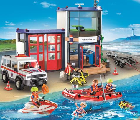 PLAYMOBIL - Bild zu Spielset 9533 Rettungswache mit Wasserwacht-Fahrzeug