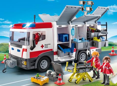 PLAYMOBIL - Bild zu Spielset 9536 DRK-Gerätewagen (Katastrophenschutz)