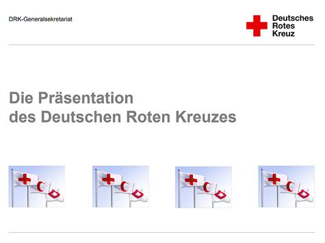 Die Präsentation des Deutschen Roten Kreuzes