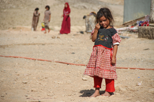 Flüchtlingsmädchen im Camp