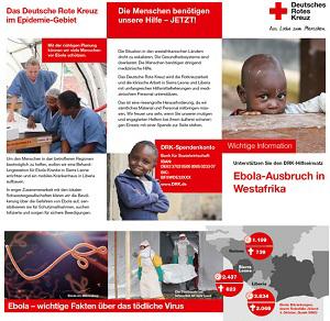 Flyer: Das Deutsche Rote Kreuz im Epidemie-Gebiet