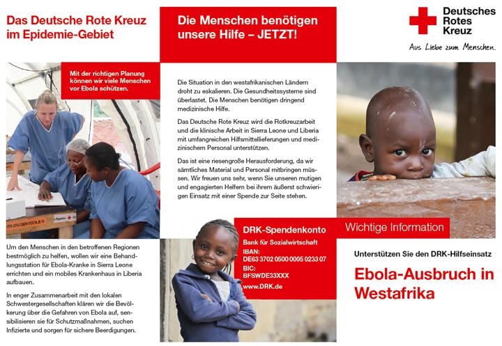 Flyer und Infomaterial: Ebola-Ausbruch in Westafrika