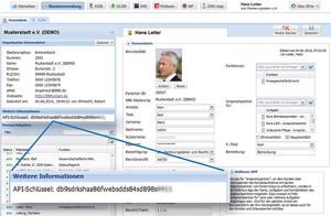 Den API-Key in der Benutzerverwaltung finden
