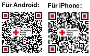 QR-Codes DRK-App für iPhone- und Android-Geräte