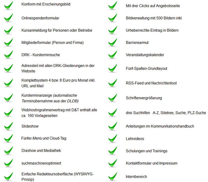 Vorteile der DRK-Musterwebseiten in der Übersicht
