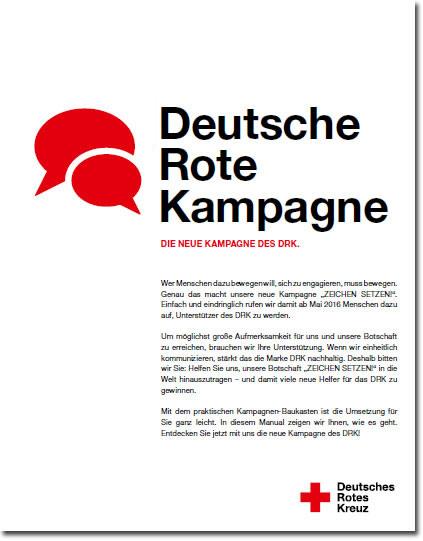 Broschüre DRK Kampagne