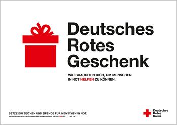 Weihnachtsmotiv zur DRK-Kampagne ZEICHEN SETZEN!