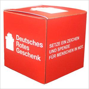 "Faltschachtel ""Deutsches Rotes Geschenk"""